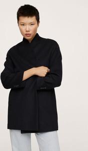 Czarny płaszcz Mango w stylu casual z wełny