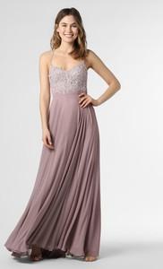 Fioletowa sukienka Luxuar Fashion maxi na ramiączkach