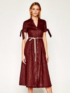 Sukienka Pennyblack koszulowa midi z dekoltem w kształcie litery v