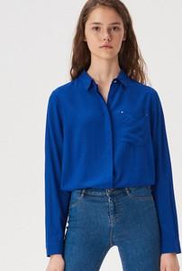Niebieska koszula Sinsay z długim rękawem