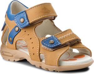 Brązowe buty dziecięce letnie RenBut z nubuku