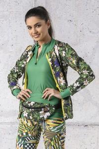 Zielona bluza Nessi Sportswear z dzianiny krótka