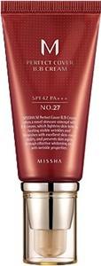 Missha Krem BB No. 27 M Perfect Cover z wysoką ochroną UV odcień - Honey Beige SPF42/PA+++ 50 ml