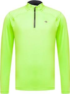 Zielony sweter Descente z tkaniny