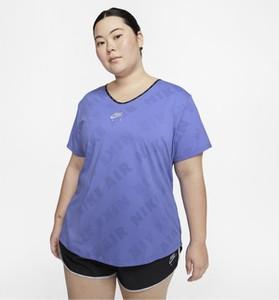 T-shirt Nike w sportowym stylu z dekoltem w kształcie litery v z krótkim rękawem