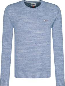 Niebieski sweter Tommy Jeans w stylu casual