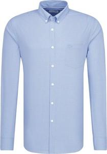 Niebieska koszula Lacoste z kołnierzykiem button down