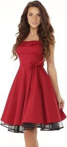 Czerwona sukienka Ella Dora rozkloszowana