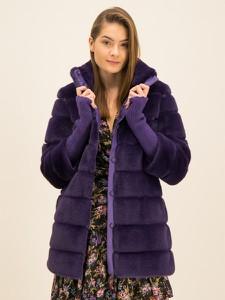 Fioletowy płaszcz Patrizia Pepe