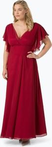 Czerwona sukienka Swing Curve z krótkim rękawem z dekoltem w kształcie litery v