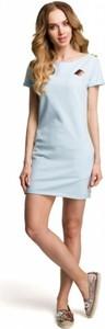 Sukienka MOE mini z krótkim rękawem z dresówki