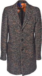 Brązowy płaszcz męski Etro w młodzieżowym stylu