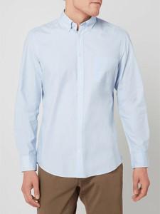 Niebieska koszula Christian Berg Men z długim rękawem z klasycznym kołnierzykiem