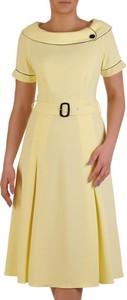 Żółta sukienka POLSKA z dzianiny