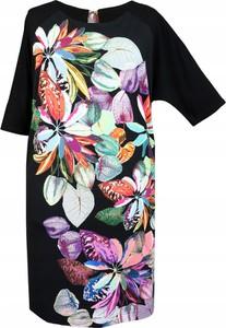 Sukienka Inna z krótkim rękawem z okrągłym dekoltem mini