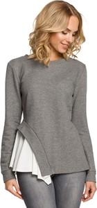 Bluzka MOE w stylu casual z tkaniny