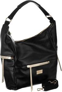 Czarna torebka Badura duża w wakacyjnym stylu ze skóry ekologicznej