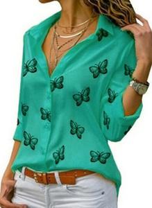 Zielona bluzka Cikelly z bawełny