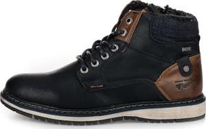 bd30bb361b6e11 Granatowe buty zimowe Tom Tailor sznurowane