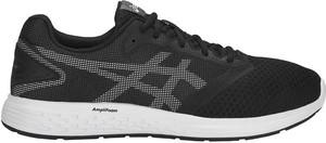 Czarne buty sportowe ASICS w sportowym stylu sznurowane