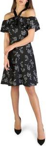 Czarna sukienka Armani Exchange z krótkim rękawem mini