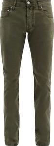 Zielone jeansy Jacob Cohen z tkaniny w stylu casual