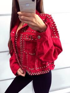 Kurtka Yasmin Boutique z bawełny krótka