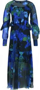 Sukienka Desigual z długim rękawem maxi
