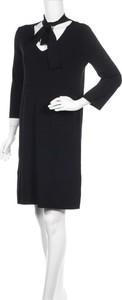Czarna sukienka Alpha Studio w stylu casual z długim rękawem