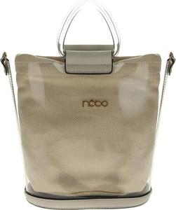 Brązowa torebka NOBO duża na ramię w stylu casual