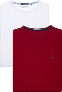 Czerwony t-shirt LANCERTO z bawełny