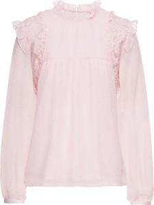 Różowa bluzka bonprix bodyflirt z długim rękawem