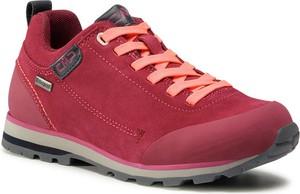 Czerwone buty trekkingowe CMP z płaską podeszwą sznurowane