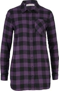 Fioletowa bluzka bonprix John Baner JEANSWEAR z długim rękawem