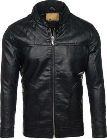 Czarna kurtka denley ze skóry ekologicznej