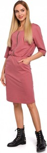 Sukienka MOE z bawełny w stylu casual mini