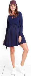 Niebieska sukienka Happymum