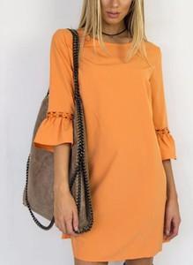 Sukienka Sandbella mini prosta z długim rękawem