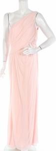 Różowa sukienka David`s Bridal bez rękawów