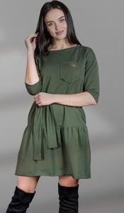 Zielona sukienka Marconifashion z długim rękawem mini