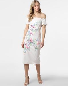 Sukienka Ted Baker midi z krótkim rękawem