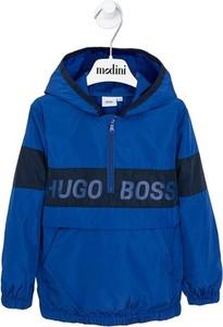 Granatowa kurtka dziecięca Hugo Boss dla chłopców