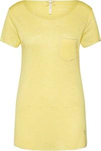 Bluzka Key Largo w stylu casual z okrągłym dekoltem z krótkim rękawem