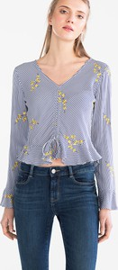 Bluzka CLOCKHOUSE z dekoltem w kształcie litery v w stylu casual