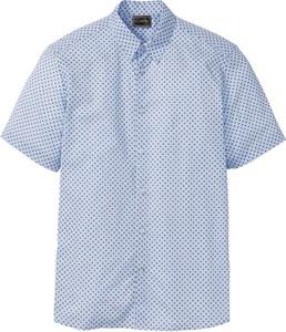 Niebieska koszula bonprix bpc selection w stylu casual z krótkim rękawem