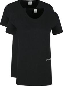Czarna bluzka Calvin Klein z krótkim rękawem