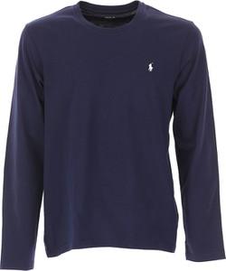 Granatowa koszulka z długim rękawem Ralph Lauren z bawełny