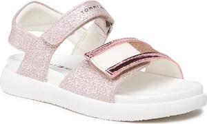 Buty dziecięce letnie Tommy Hilfiger na rzepy dla dziewczynek