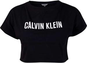 Czarna bluzka Calvin Klein z okrągłym dekoltem z bawełny