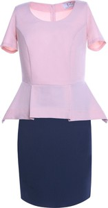 Sukienka Fokus ołówkowa z tkaniny z krótkim rękawem